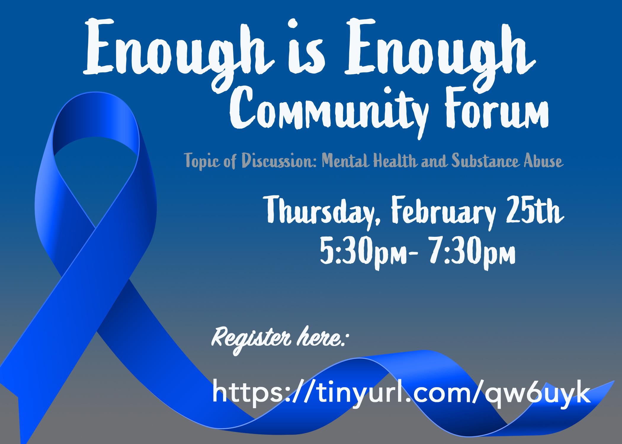 Enough is Enough Community Forum
