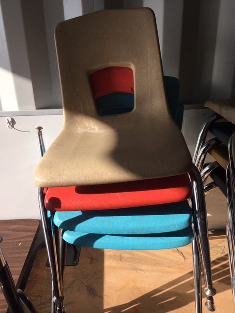 Various student chairs 1