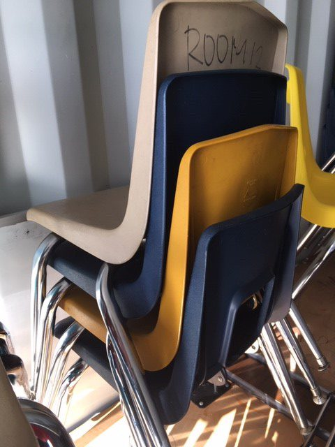 Various student chairs 2